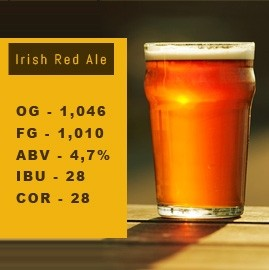 Kit de Insumos Irish Red Ale 20L