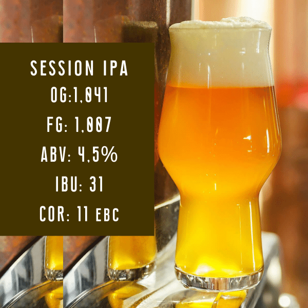 Kit de Insumos Session IPA 20L